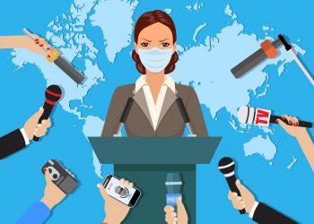 Press conference by Mrs. Britta Johnson